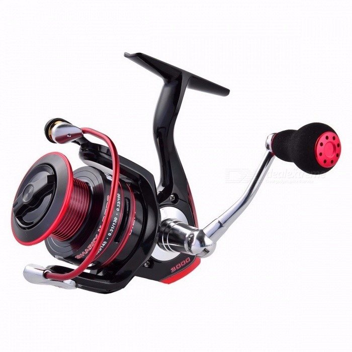 KastKing Sharky II New Water Resistant Carbon Drag Spinning Reel Large Spool, 19KG Max Drag Freshwater Fishing Reel 3000 Series/11Fishing Reels &amp; Rods<br>Description<br><br><br><br><br>Fishing Method: Spinning<br><br><br>Fishing Reels Type: Pre-Loading Spinning Wheel<br><br><br><br><br>Brand Name: KastKing<br><br><br>Position: Lake,Reservoir Pond,River,Stream<br><br><br><br><br>Baits Type: Fake Bait<br><br><br><br><br><br><br><br><br><br><br><br><br>Features:<br><br><br>1.&amp;nbsp;&amp;nbsp;Sealed components resist water and dirt&amp;nbsp;&amp;nbsp;&amp;nbsp;– Sealed Drag, Spool, One-way Clutch, and Main Body<br><br><br>2.Best-in-class Up to&amp;nbsp;&amp;nbsp;19KG Max Drag Power&amp;nbsp;– Unique Spool Knob, 3-set Carbon Fiber Drag Washers, and Strengthened Gear <br><br><br>3.Carbon Fiber Drag System: powerful, smooth and reliable <br><br><br>4.Power Launch Spool with Long Casting Lip <br><br><br>5.Unique Design Spool - Lighter yet Stronger <br><br><br>6.10+1 Shielded Stainless Steel Ball Bearings&amp;nbsp;– Smooth and Silent<br>