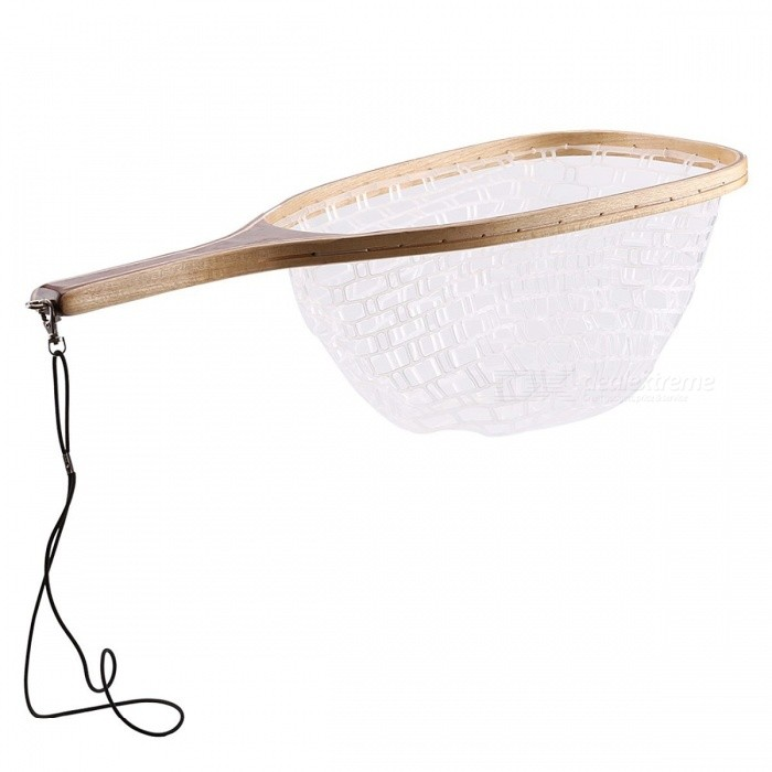 SeaKnight 62cm 30cm Big Waterproof Stream Fly Fishing Landing Net, Rubber Dip Net w/ Wooden Handle, Retention Rope WhiteDescription<br><br><br><br><br>Product Type: Fishing Nets<br><br><br>With Glueing or Not: Yes<br><br><br><br><br>Positionable or Not: No<br><br><br>Style: Multifilament<br><br><br><br><br>Type: Hand Net<br><br><br>Knot Type: Single<br><br><br><br><br>Mesh Size: Large Mesh<br><br><br>Retractable or Not: No<br><br><br><br><br>Brand Name: SeaKnight<br><br><br>Plastic Type: Other<br><br><br><br><br><br><br><br><br><br><br><br>Specification: <br><br><br>Brand: SeaKnight <br><br><br>Color:&amp;nbsp;White <br><br><br>Material:&amp;nbsp;Rubber Net, Wooden handle <br><br><br>Applicable places: Stream <br><br><br>Quantity: 1 piece <br><br><br>Feature: Sunscreen, Waterproof <br><br><br>&amp;nbsp;<br><br><br>Packing: <br><br><br>1piece of fishing net<br>