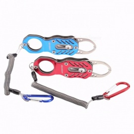SeaKnight Portable Mini Fish Grip 120*35mm SK003 Metal High-strength Fishing Gripper Retention Rope Hanging Buckle Fishing Tools Red