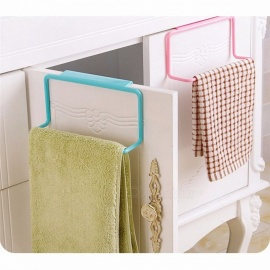 SAINGACE Durable Simple Towel Rack Storage Hanging Holder Organizer, Bathroom Kitchen Cabinet Cupboard Hanger Green