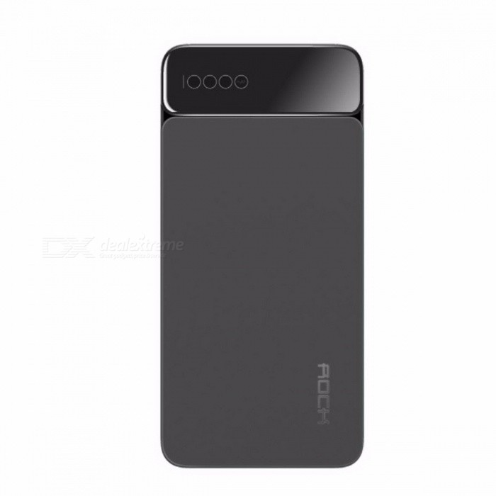 ROCK Portable 10000mAh External Battery Type-C 5V 3A Powerbank Power Bank with Digital Display for IPHONE X Samsung Xiaomi