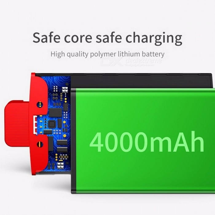 Baseus 4000mAh Backpack Power Bank Powerbank, Portable External Battery Charger Case for IPHONE 7 6 6s Plus 5 5s SE