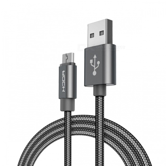 ROCK Micro USB Fast Charging Data Sync Cord Cable for SAMSUNG Xiaomi Mi Huawei and Other Mobile Phones 100cm/GreyCables<br>Description<br><br><br><br><br>Compatible Brand: SONY,Blackberry,LG,Nokia,HTC,Palm,Toshiba,Samsung,Panasonic,Motorola<br><br><br>Type: USB<br><br><br><br><br>Brand Name: Rock<br><br><br>Has Retail Package: Yes<br>