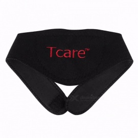 Tcare Tourmaline Massager Neck Belt, Self-heating Neck Support Brace, Magnetic Therapy Wrap Protective Band  Black M