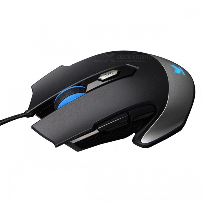 Original Rapoo V310 8200 DPI 6-Button Wired USB Gaming Mouse w/ LED Backlight for PC Laptop Desktop Computer
