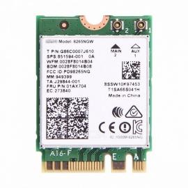 Fenvi Dual Band Laptop WLAN Wi-Fi Network Card, Intel Wireless-AC 8265 8265NGW 802.11ac NGFF 867Mbps Wi-Fi + Bluetooth V4.2 Card Network Card