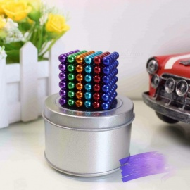 Christmas Gift 216 Pieces 6mm Magnetic Neodymium Magnets Magic Cube Puzzle Magcube Balls Blocks Toys for Adults with Metal Box Mixed colors