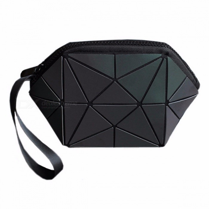 New Geometric Zipper Cosmetic Bag Organizer, Luminous Folding Travel Make Up Makeup Bag for Women Ladies LuminousCosmetic Storage<br>Description<br><br><br><br><br>Item Type: Cosmetic Cases<br><br><br>Style: Fashion<br><br><br><br><br>Closure Type: Zipper<br><br><br>Brand Name: Flower poetry<br><br><br><br><br>Shape: Pillow<br><br><br>Main Material: PU<br><br><br><br><br>Pattern Type: Geometric<br>