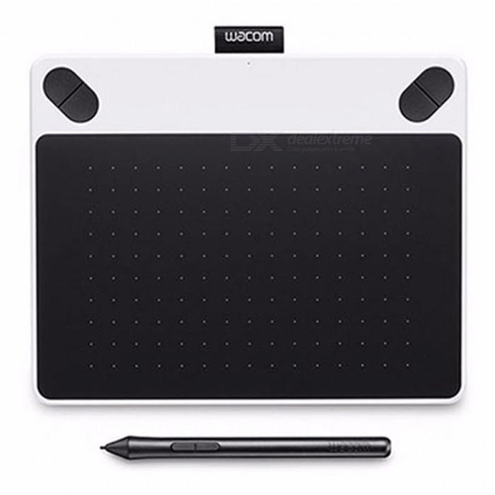 wacom ctl 490 intuos draw digital graphic drawing tablet pad 2048 pressure levels white blue. Black Bedroom Furniture Sets. Home Design Ideas