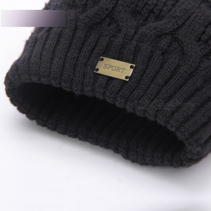 1ef29b0f743 boapt Double-deck Knitted Wool Real Natural Raccoon Fur Pompon Hat ...