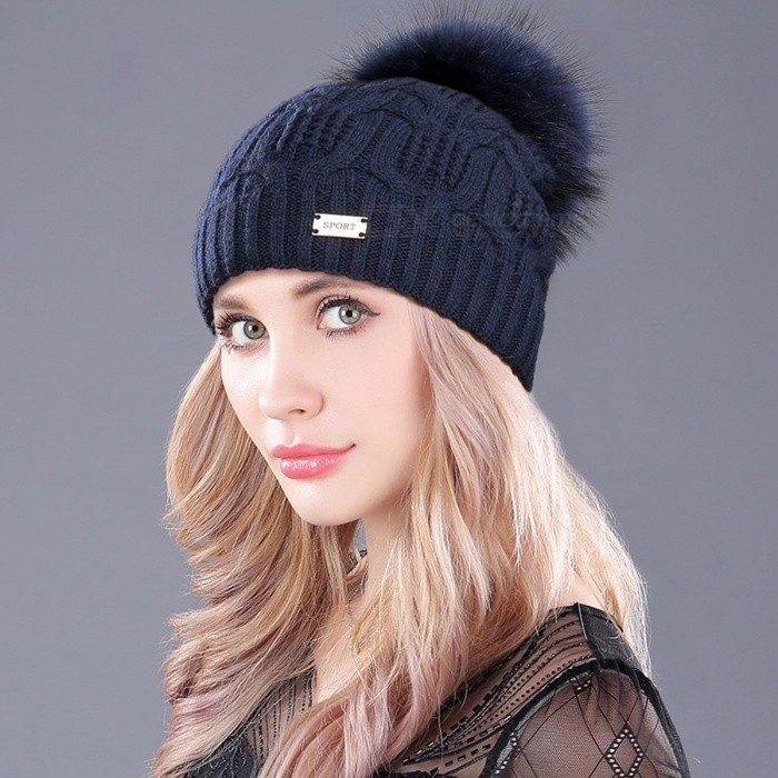 boapt Double-deck Knitted Wool Real Natural Raccoon Fur Pompon Hat, Female Winter Braid Cap Headgear, Skullies Beanie for Women  2F609 Navy BCaps and Hats<br>Description<br><br><br><br><br>Item Type: Skullies &amp;amp; Beanies<br><br><br>Gender: Women<br><br><br><br><br>Department Name: Adult<br><br><br>Pattern Type: Solid<br><br><br><br><br>Material: Fur<br><br><br>Style: Casual<br><br><br><br><br>Brand Name: boapt<br><br><br><br><br><br><br><br><br><br>Inside: Double-deck <br><br><br>Popular: Metal decoration <br><br><br>Fur Size: 14cm to 15cm <br><br><br>Beanie Size: Length 23cm(inside20cm),Width 20cm <br><br><br>Hats Containment: 54cm to 60cm <br><br><br>Colors: White,Black,Wine red,Navy,Pink,Grey,Light Coffee <br><br><br>Pompon Disassembly: Can be disassembled <br><br><br>Beanies Material: 30%Wool+70%Acrylic <br><br><br>Season: Winter <br><br><br><br>Number&amp;nbsp;: 2F6&amp;nbsp; &amp;nbsp; &amp;nbsp;Brand:BOAPT<br>Hat&amp;nbsp;Circumference : 54cm to&amp;nbsp;60cm&amp;nbsp;<br>Beanie Size&amp;nbsp;: Length 23cm, Width 20cm<br>Material&amp;nbsp;: 30%Wool+70%Acrylic&amp;nbsp;<br>Pompon&amp;nbsp;: Diameter 14cm to&amp;nbsp;15cm<br><br><br>Pompon Material : 100% Real Raccoon Fur<br>