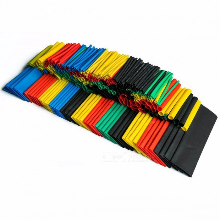 ... Colorful 328pcs Assorted Heat Shrink Tube Assortment Wrap Electrical Insulation Cable Tubing 5 Colors 8 Sizes ...