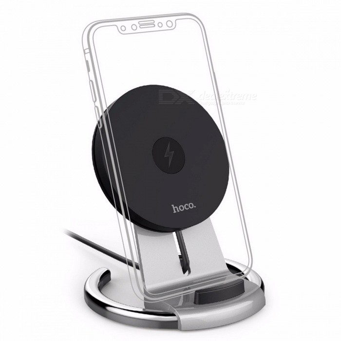 HOCO Original 10W Tabletop Qi Wireless Charger for IPHONE X 8 8 Plus Samsung S8 Plus S7 Edge, 5V/2A Fast Wireless Charging Stand SilverWireless Chargers<br>Description<br><br><br><br><br>Quality Certification: FCC,CE,RoHS<br><br><br>USB Ports: 1<br><br><br><br><br>Type: Wireless Charger<br><br><br>Output: 9V/1.67A<br><br><br><br><br>Support Quick Charge Technology: Qualcomm Quick Charge 3.0,Qualcomm Quick Charge 2.0<br><br><br>Input: 5V/2A<br><br><br><br><br>Brand Name: HOCO<br><br><br>Power Source: A.C. Source<br><br><br><br><br>Compatible Brand: Apple,Samsung<br><br><br>Output Interface: USB<br><br><br><br><br><br><br><br><br><br><br><br>1. Input: 5V/2A, 9V/1.8A<br><br><br>2. Wireless output: 5V-9V/1.8A, transmission range: 5-8mm<br><br><br>3. Wireless charging conversion rate?72%<br><br><br>4. Material: Flame retardant ABS+PC +zinc alloy electroplated support<br><br><br>5. Wireless fast charging support, height adjustable, Qi standard supported<br>