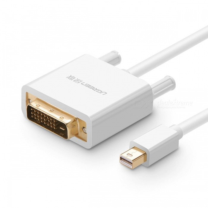 Ugreen Thunderbolt Mini Displayport DP Male to DVI-D 24+1 Male Adapter Converter Cable for TV Laptop Projector 3m/WhiteAV Adapters And Converters<br>Description<br><br><br><br><br>Application: Projector,Multimedia,Television,Monitor<br><br><br>Type: DP/Mini DP Cables<br><br><br><br><br>Connector A: Mini Displayport(Mini DP)<br><br><br>Gender: Male-Male<br><br><br><br><br>Brand Name: Ugreen<br><br><br>Packing: Polybag<br><br><br><br><br>Shielding: Foil<br><br><br>Package: Yes<br><br><br><br><br>Connector B: DVI<br><br><br>Bundle: Bundle 1<br><br><br><br><br>Version: DisplayPort 1.2<br><br><br><br><br><br><br><br><br><br>feature 2: mini displayport to dvi <br><br><br>feature 3: mini displayport to dvi cable <br><br><br>feature 4: mini displayport to dvi adapter <br><br><br>feature 5: mini displayport to dvi-d <br><br><br>type : converter<br>