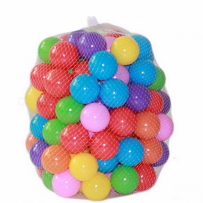 100Pcs/Lot Eco-Friendly Colorful Soft Plastic Water Pool Ocean Wave Stress Air Ball, Baby Funny Toys for Outdoor Fun Sports ColorfulDescription<br><br><br><br><br>Gender: Unisex<br><br><br>Age Range: & 3 years old,13-24 Months,0-12 Months,2-4 Years,&amp;lt; 3 years old<br><br><br><br><br>CE: Certificate<br><br><br>Brand Name: GOOD LUCKY BOY<br><br><br><br><br>Certification: CE<br><br><br>Material: Plastic<br><br><br><br><br>Plastic Type: PE<br><br><br>Type: Ball Pits<br><br><br><br><br>Barcode: No<br><br><br>Features: Sports<br><br><br><br><br><br><br><br><br><br><br>Product<br> Feature: This style is unique and pretty .It is beautiful and fashion <br>.Play this balls with tent, very happy.It will not hurt your kids.High <br>quality material, Safe and reliable, non-toxic, no smell.The perfect <br>toy&amp;nbsp;for your kids. <br><br><br>Style: Ocean Balls<br>Size: 5.5cm (2.17 inch)<br>Color: Seven color mixture<br>The Material of Ball: Plastic PE<br>Age Range: 0-10 kids<br>Package included: 100pcs ? Ocean Balls&amp;nbsp;+&amp;nbsp;Mesh bag<br><br><br>Please note: 200 and 200 within the ball, we will put inside a parcel, after customers received the goods, please check the number of the ball, thank you!<br>