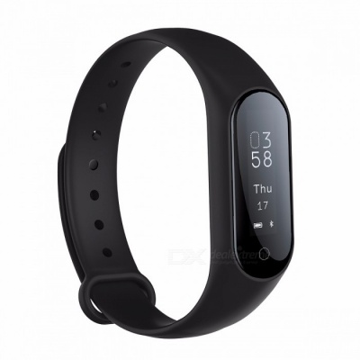 0.87'' OLED Bluetooth Smart Watch Bracelet w/ Blood Pressure Heart Rate Monitor, Fitness Tracker for Android IOS Black