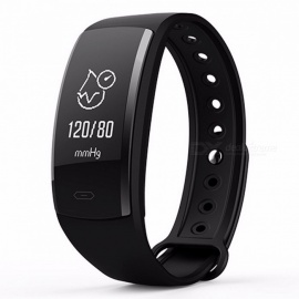 Diggro QS90 Blood Pressure IP67 Smart Bracelet w/ Heart Rate Monitor, Blood Oxygen Monitor, Fitness Tracker for Andriod IOS black