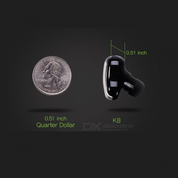 Dacom K8 Mono Small Single Earphone Bluetooth Earbuds Hidden Invisible Earpiece Micro Mini Wireless Headset Headphone
