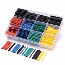 530 Pieces Heat Shrink Tubing Insulation Shrinkable Tube Assortment Electronic Polyolefin Ratio 2:1 Wrap