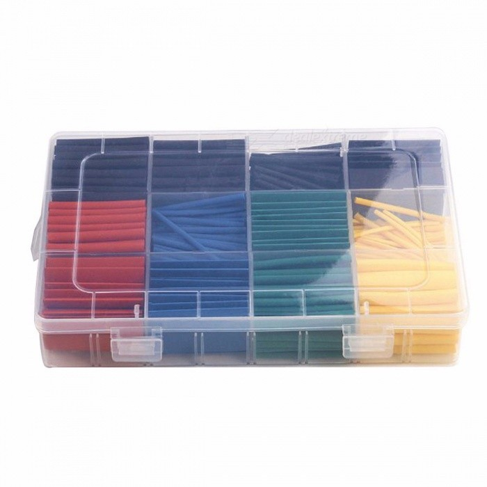 254 Pc Heat Shrink Wire Wrap Assortment Set Tubing Electrical