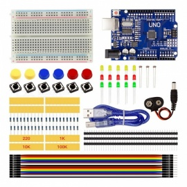 High Quality Starter Kit UNO R3 Mini Breadboard LED Jumper Wire Button Set DIY Tool Kit Set for Arduino COLORFUL