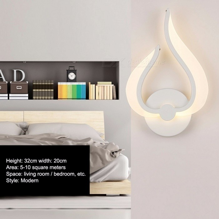 LED Wall Lamp Modern Simple Bedroom Bedside Light Indoor Kitchen Dining  Room Corridor Wall Lighting Acrylic Material AC 85-265V Nature ...