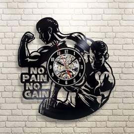 """""""No Pain No Gain"""" Motivational Quote LED Light Vinyl Light Decor Gym Fitness Room Exclusive Hanging Lamp 3D Lighted Sign With Led"""