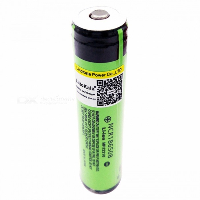 Liitokala NCR18650B Premium 18650 3400mAh Protected Li-ion Rechargeable Battery with PCB for Panasonic