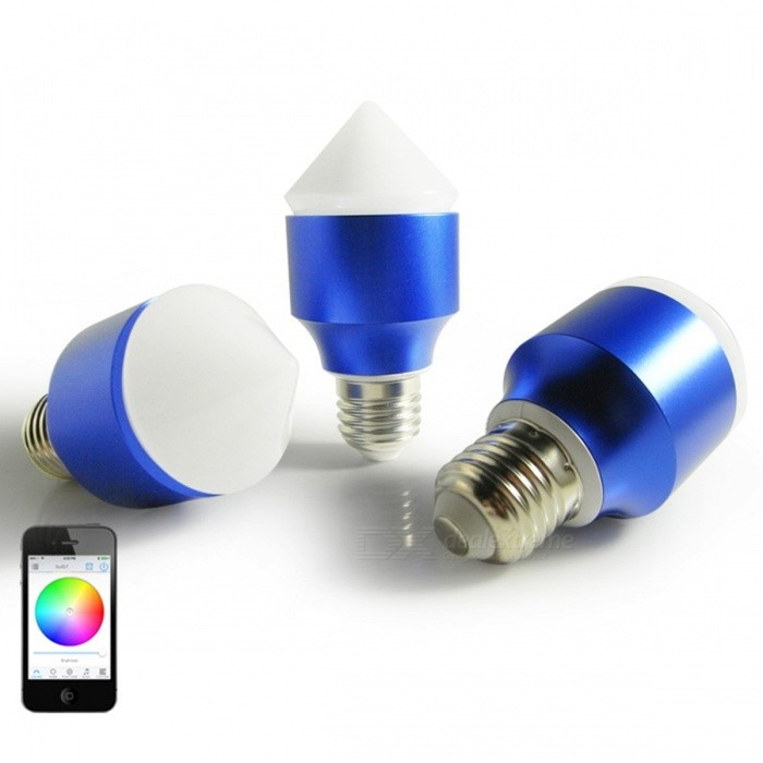 AC100V-AC240V Magic Blue 6W E27 RGBW LED Light Bulb, Bluetooth V4.0 Smart Dimmable Color-changing Lighting Lamp for IOS Android