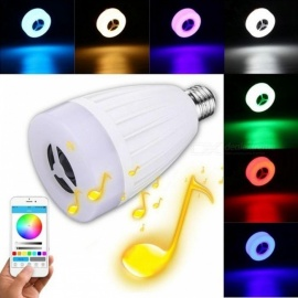 LumiParty E27 APP Remote Control Multi Colors Changing LED Smart Light Bulb Bluetooth Speaker, Supports Music Play Multi Colors