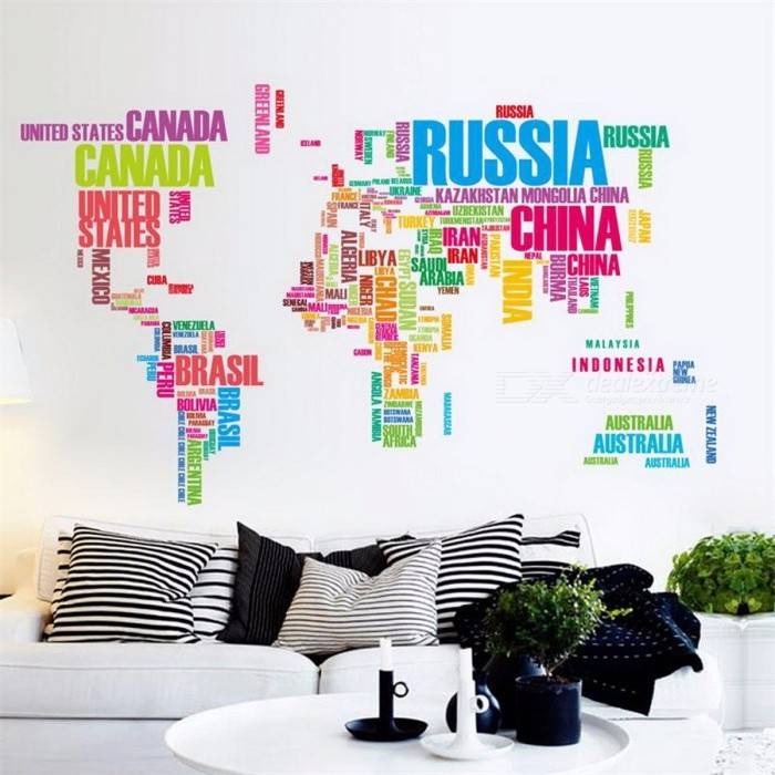 Isabel animal world map wall stickers for kids rooms living room isabel animal world map wall stickers for kids rooms living room home decorations decal mural gumiabroncs Images