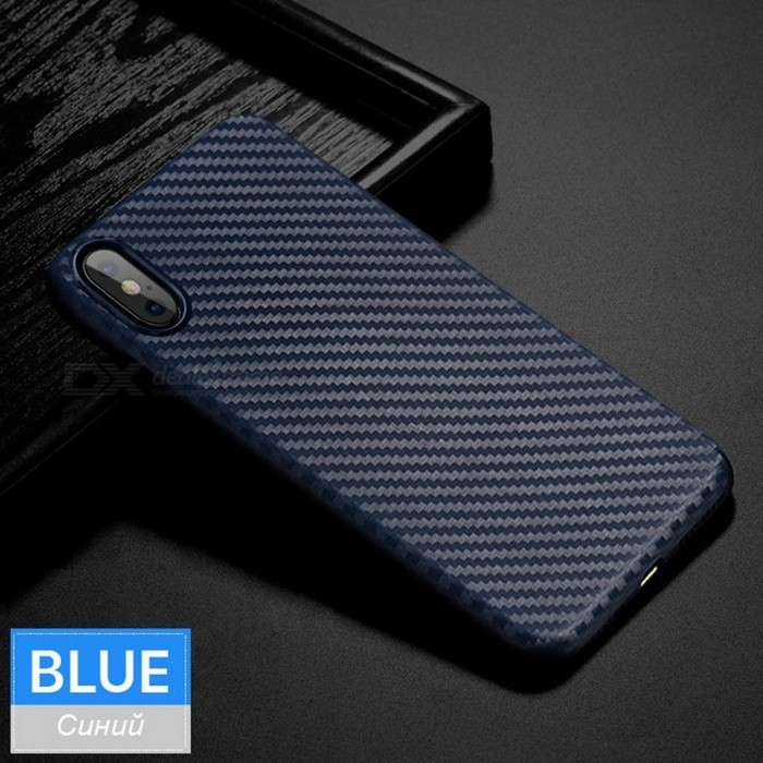 HOCO Stylish Ultra Thin Slim Protective Back Case Cover Carbon Fiber Soft Silicone Cover for Apple IPHONE X