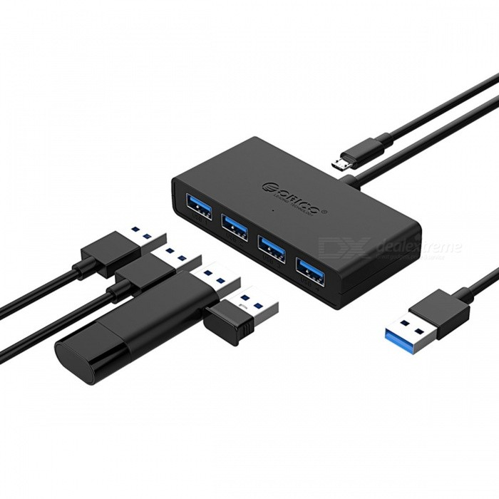 5Gbps Speed 4-Port USB 3.0 Portable Compact Hub Adapter For Laptop Trendy E
