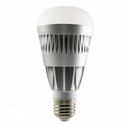 E27 10W RGBW Changable Color LED Bulb, Smart Bluetooth V4.0 Wireless Remote Dimmable LED Light for IOS Android 10w/changeable