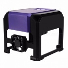 Premium CNC Router Laser Cutter, Mini DIY Print Laser Engraving Lettering Machine w/ 80*80mm Working Area  Purple 1000mw