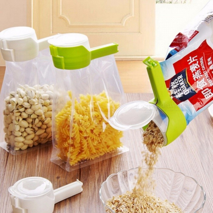 Seal Pour Food Snack Storage Bag Sealing Clip, Fresh Keeping Sealer Clamp, Plastic Helper Food Saver for Home, Travel  GreenLifestyle Gadgets<br>Description<br><br><br><br><br>Type: Bag Clips<br><br><br>Plastic Type: PP<br><br><br><br><br>Feature: Folding,Eco-Friendly<br><br><br>Brand Name: EH-LIFE<br><br><br><br><br>Material: Plastic<br><br><br><br><br><br><br><br><br><br><br><br><br>Item type: Bag Clip<br><br><br>Material: PP<br><br><br>Color: White Gray Red Green<br><br><br>Size(Approx): 12.5*5.5*4.5cm<br><br><br>Features:<br><br><br>100% brand new and high quality.<br><br><br>The design seals air out, keeping food fresh for months.<br> These clips are reusable for many years.<br> No more fussing with twist-ties, these clips are long lasting and easy to use.<br><br><br>Package: 1PC<br>