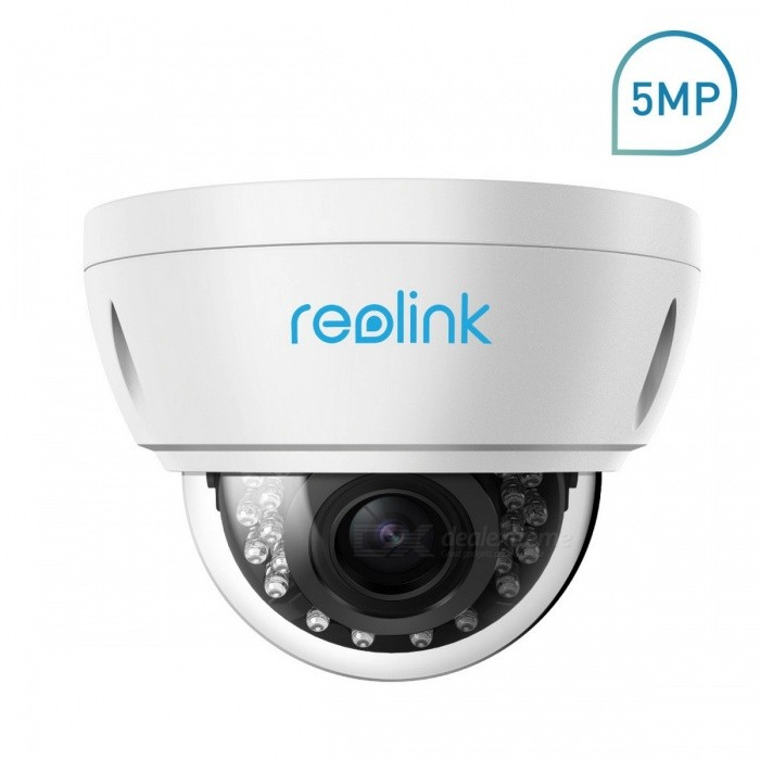 Reolink RLC-422-5MP Waterproof 5.0MP POE 4X Optical Zoom Security IP Camera for Outdoor Indoor 2.8-12mm zoomIP Cameras<br>ModelRLC-422Form  ColorWhiteMaterialRLC-422Quantity1 setImage SensorCMOSLens8mmPixels5.0MPViewing Angle90 °Frame Rate:Audio Compression FormatNoNight VisionNoNight Vision Distance: cmWireless / WiFiNoNetwork ProtocolIP,FTPSupported Systems7Supported BrowserFirefox,OperaSIM Card SlotNoOnline Visitor;Mobile Phone PlatformNo,Android,iOS,WindowsFree DDNSnoIR-CUTnoBuilt-in Memory / RAMNoMotorNoZoom:Water-proofNoIntercom FunctionNoImage SensorCMOSFocus2.8-12mm zoomPacking ListProduct<br>