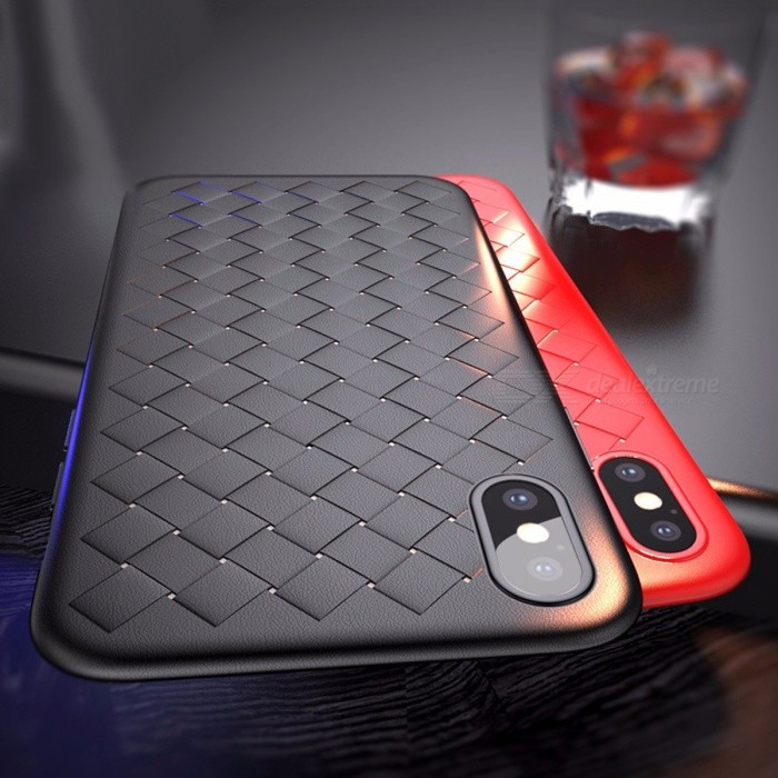 buy popular 7938b 0995c Baseus Stylish Luxury Grid Weave Style Case Ultra Thin Soft Cover for  IPHONE X High Quality BV Protective Case TPU/Blue