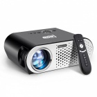 AUN T90 Portable HD 3200 Lumen 1280*768 LED TV Projector with Multimedia Playback System for Home Threater Black