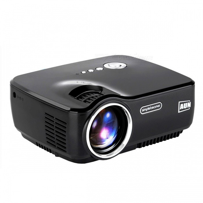 AUN AM01 LED Projector Set in HDMI, VGA, USB, Multimedia Player for Home Theatre, No Need HDMI Cable &amp; 3D Glasses BlackProjectors<br>Description<br><br><br><br><br>Use: Entertainment Projector<br><br><br>Zoom: None<br><br><br><br><br>Home Theater Projector: No<br><br><br>Type: Digital Projector<br><br><br><br><br>Keystone Correction: Manual Correction<br><br><br>Plug Type: UK Plug,US Plug,EU Plug,AU Plug<br><br><br><br><br>Brightness: 1200 Lumens<br><br><br>Screen Scale: 4:3/16:9<br><br><br><br><br>Projective Mode: Ceiling,Mirror Image,Throwing<br><br><br>Projection Technology: LCD<br><br><br><br><br>Brand Name: AUN<br><br><br>Optical Resolution: 800x600dpi<br><br><br><br><br>System: Multimedia System<br><br><br>Light Source: LED<br><br><br><br><br>Portable: No<br><br><br>Contrast Ratio: 1000:1-2000:1<br><br><br><br><br>Projected Dimension: Other<br><br><br>Weight: Other<br>