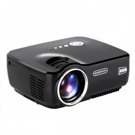 AUN AM01 LED Projector Set in HDMI, VGA, USB, Multimedia Player for Home Theatre, No Need HDMI Cable & 3D Glasses Black