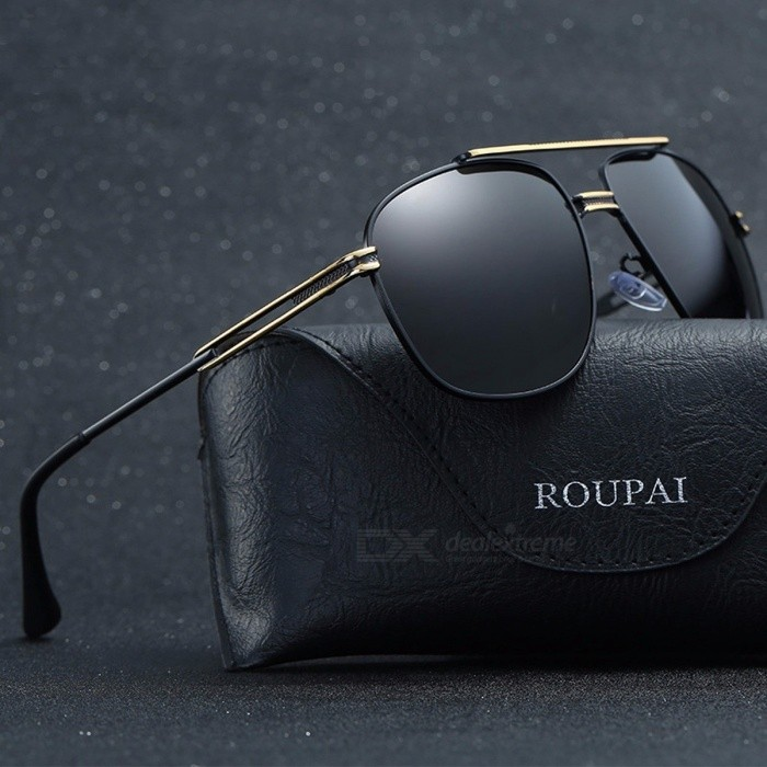 ROUPAI Cool Mens Retro Polarized Sunglasses, Luxury Brand Designer Mirror Coating Sun Glasses, Male Driving Sunglass 04Sunglasses<br>Description<br><br><br><br><br>Eyewear Type: Sunglasses<br><br><br>Item Type: Eyewear<br><br><br><br><br>Department Name: Adult<br><br><br>Lenses Optical Attribute: Gradient,UV400,Anti-Reflective,Polarized<br><br><br><br><br>Frame Material: Alloy<br><br><br>Lenses Material: Polycarbonate<br><br><br><br><br>Gender: Men<br><br><br>Brand Name: ROUPAI<br><br><br><br><br>Style: Pilot<br><br><br><br><br><br><br><br><br><br>Lens Height: 50mm ( High Quality Masculino Aviador Eyewear Vintage Versa Sunwear ) <br><br><br>Model Number: RP081-P0854 ( Cheap Sale Classic Travel Shades P<br>