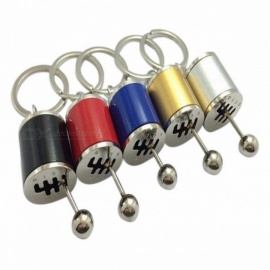 Mini Unique Gear Shift Knob Type Car Modified Key Ring Keychain, Auto Metal Key Chain for Car-styling red