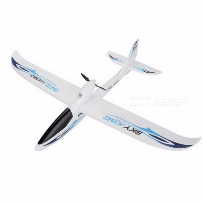 Wltoys F959 Sky King 3CH Three-Channel RC Airplane, Push-speed Glider Fixed Wing Plane RTF Toy for Kids BlueDescription<br><br><br><br><br>Type: Airplane<br><br><br>Features: Remote Control<br><br><br><br><br>Aerial Photography: No<br><br><br>State of Assembly: Ready-to-Go<br><br><br><br><br>Age Range: & 14 years old,12-15 Years,Grownups<br><br><br>Material: Plastic,Foam,Carbon Fiber<br><br><br><br><br>Package Includes: Charger,Original Box,Operating Instructions,Batteries,Remote Controller<br><br><br>Controller Mode: MODE2<br><br><br><br><br>Power Source: Electric<br><br><br>Remote Control: Yes<br><br><br><br><br>Control Channels: 3 Channels<br><br><br><br><br><br><br><br><br><br><br><br><br>Description: <br><br><br>&amp;nbsp;<br><br><br><br>Brand: Wltoys <br><br><br>Item No: F959 <br><br><br>Item Name: Wltoys F959&amp;nbsp;Sky King 2.4Ghz 3CH RC Airplane <br><br><br>Material: EPO <br><br><br>Wingspan: 750mm <br><br><br>Overall length: 565mm <br><br><br>Net weight: 103g <br><br><br>Flying time: 10-15 minutes <br><br><br>Charging time: 30-40 minutes <br><br><br>Frequency: 2.4G <br><br><br>Control distance: 200 meters <br><br><br>Driving motor: N60 <br><br><br>Airplane battery: 7.4V 300mAh (included) <br><br><br>Transmitter battery: 4 * 1.5V AA (not included) <br><br><br>&amp;nbsp;<br><br><br><br>&amp;nbsp;<br><br><br>Features: <br><br><br>&amp;nbsp;<br><br><br>1. Three-channel backward pusher glider, the whole set is made from EPO, strong impact resistance. <br><br><br>2. Easy to control, steady flight, suit for beginner. <br><br><br>3. Folding propeller can be putted away when gliding, smaller resistance. <br><br><br>4. Coming with high discharge rate. <br><br><br>&amp;nbsp;<br><br><br>Note:&amp;nbsp; <br><br><br>Package doesnt include a camera, please buy one in addition. <br><br><br>&amp;nbsp;<br><br><br>&amp;nbsp;<br><br><br>Package included: <br><br><br>&amp;nbsp;<br><br><br>1 x WLtoys F959 RC Airplane <br><br><br>1&amp;nbsp;x battery  <br><br><br>1 x wing stiffener&amp;nbsp; <br><br><br>1 x 2.4GHz transmitter <br><br><br>1 x charger <br><br><br>1 x adapter <br><br><br>1 x manual<br>