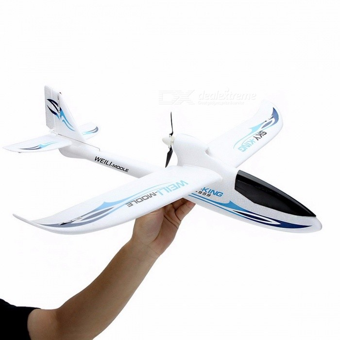 Wltoys F959 Sky King 3CH Three-Channel RC Airplane, Push-speed Glider Fixed Wing Plane RTF Toy for Kids