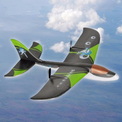 Creative Remote Control Toy with G-Sensor RC Airplane EPP Material RC Glider Airplane Model Toy RC Plane Black+Green(with box)