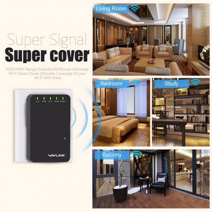 Wavlink 300Mbps Mini Portable N300 Wi-Fi Router/Access Point Wireless Range Extender Wi-Fi Booster Signal Amplifier 802.11n/b/g