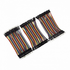 120pcs 10cm Dupont Line Male to Male, Female to Male, Female to Female Jumper Wire Dupont Cable DIY Kit for Arduino colorful