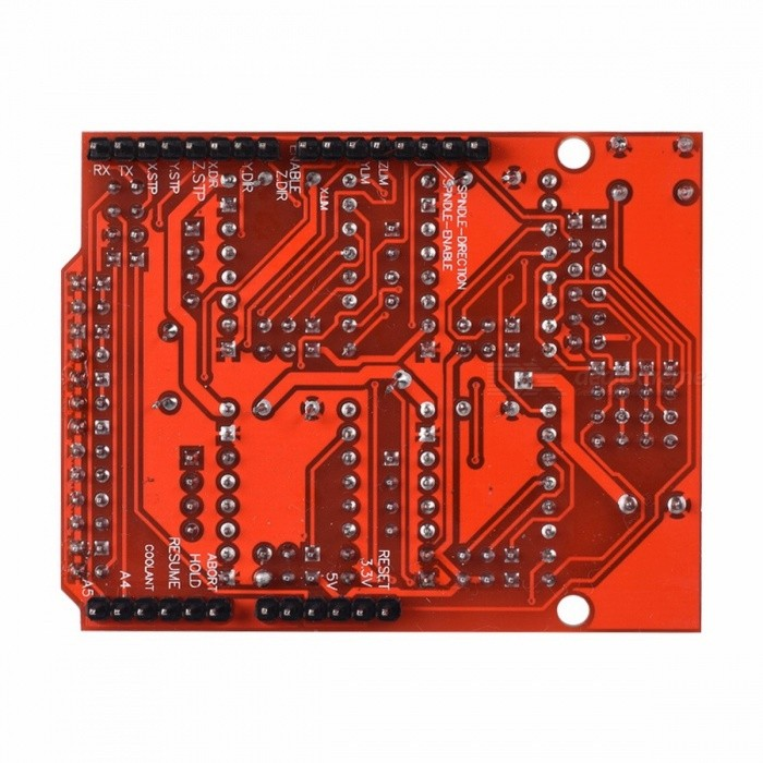 CNC Shield Expansion Board V3.0+UNO R3 Board with USB + 4PCS Stepper Motor Driver A4988 with Heatsink Kits for Arduino