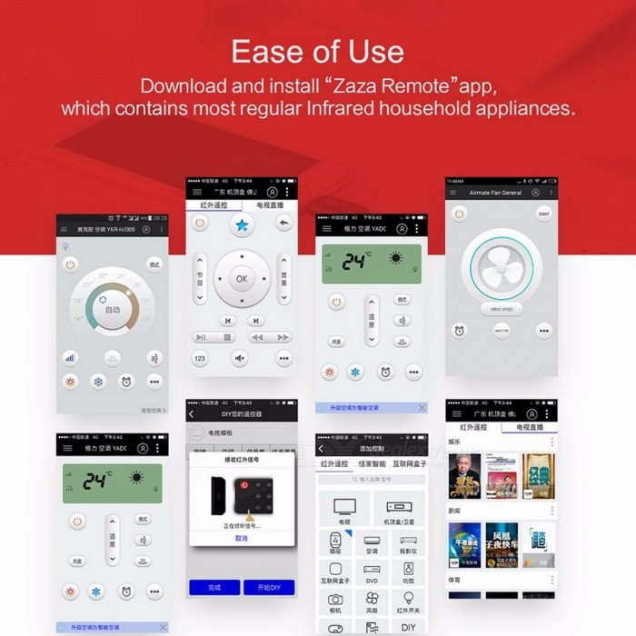 ... Rock Portable Smart Remote Control for TV Air Conditioner DVD Intelligent Remote Controller for IPHONE IOS ...